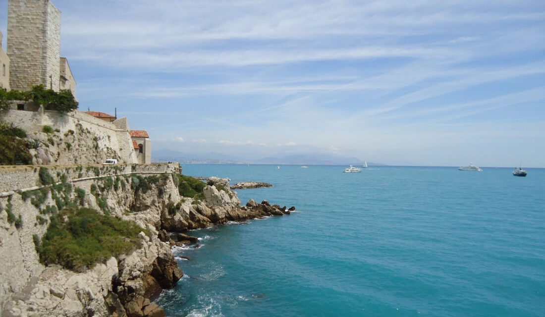 Antibes castle and view